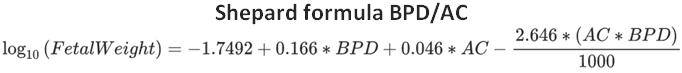 Shepard formula BPD/AC