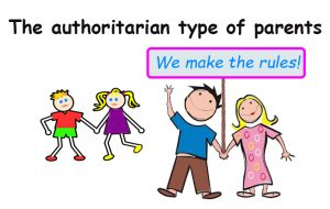 Types of parents: the authoritarian type